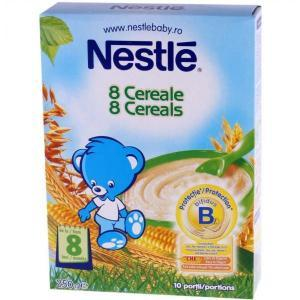 Nestle 8 cereale Bifidus, de la 8 luni, 250 g