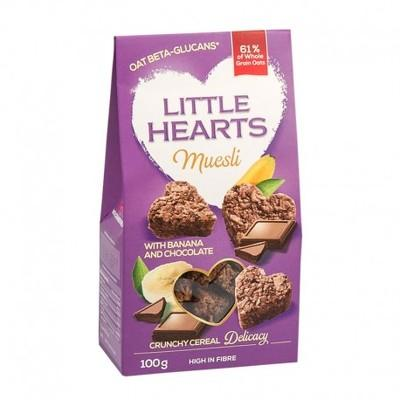 Little Hearts banane & ciocolată 100g
