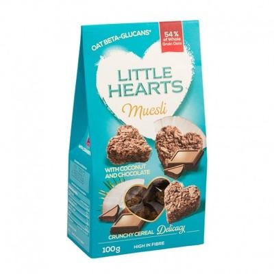 Little Hearts cocos & ciocolată 100g