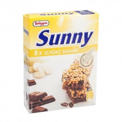 Bruggen Baton cereale banane și ciocolată - cutie 8x25g