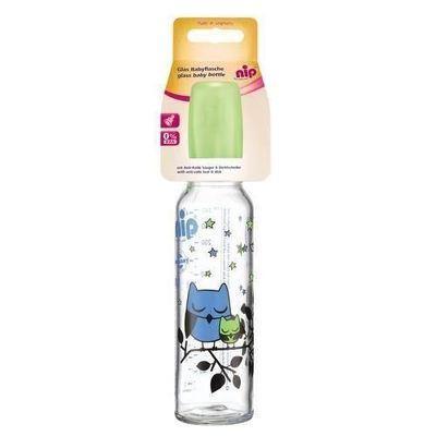 Biberon sticla 250 ml cu tetina silicon pt lapte, nr 1, nip 35015