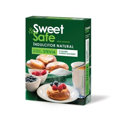 SWEET & SAFE - INDULCITOR NATURAL CU EXTRACT DE STEVIE 350gr SLY NUTRITIA