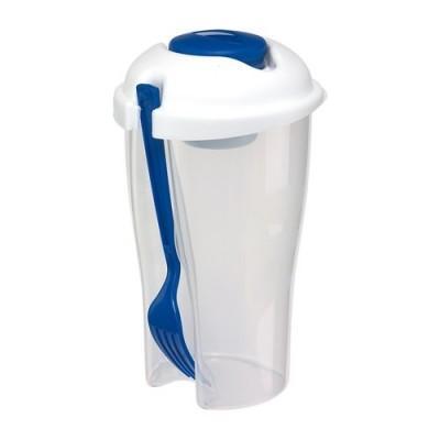 Cupă pentru salată VEGGIE CUP - alb cu albastru