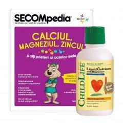 Calcium with Magnesium 474ml (gust de portocale)
