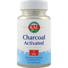 Charcoal Activated (Carbune medicinal) 280mg 50 capsule