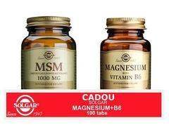 Pachet MSM 1000mg 60tablete + Magnesium cu B6 100 tablete GRATIS
