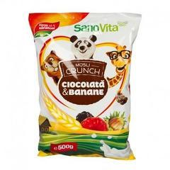 Musli crunch banane și ciocolată 500g