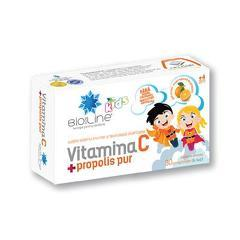 VITAMINA C+PROPOLIS PUR COPII 30CPR
