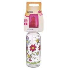 Biberon Family Girl PP 250 ml cu tetina latex pt lapte, nr 2, nip 35006