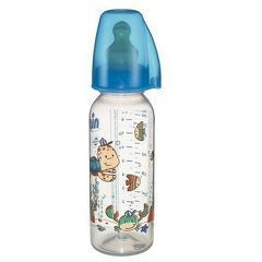 Biberon Family Boy PP 250 ml cu tetina latex pt lapte, nr 2, nip 35007