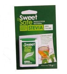 SWEET & SAFE - INDULCITOR NATURAL DE STEVIE 200tb SLY NUTRITIA