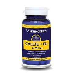 Calciu+D3 cu Vitamina K2  60CPS