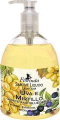 Sapun lichid vegetal hidratant cu struguri si afine si ulei de Jojoba  Florinda  500 ml La Dispensa