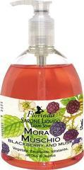 Sapun lichid vegetal hidratant cu mure si mosc si ulei de Jojoba  Florinda  500 ml La Dispensa