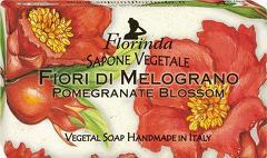 Sapun vegetal cu flori de rodie Florinda  100 g La Dispensa