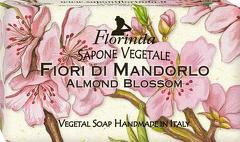 Sapun vegetal cu flori de migdali Florinda  100 g La Dispensa