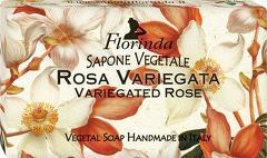 Sapun vegetal cu trandafir pestrit Florinda  100 g La Dispensa