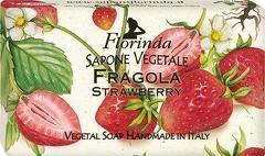 Sapun vegetal cu capsuni Florinda  100 g La Dispensa