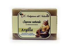 Sapun natural cu argila si ulei de cocos  100 g Laboratorio Naturale