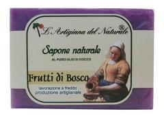 Sapun natural cu ulei esential de fructe de padure si ulei de cocos  100 g Laboratorio Naturale