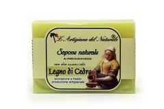 Sapun natural cu ulei esential de lemn de cedru si ulei de cocos  100 g Laboratorio Naturale