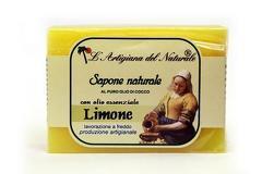 Sapun natural cu ulei esential de lamaie si ulei de cocos  100 g Laboratorio Naturale