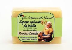 Sapun natural cu lacramioare si ulei de cocos  100 g Laboratorio Naturale