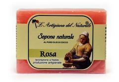 Sapun natural cu trandafir si ulei de cocos  100 g Laboratorio Naturale