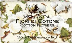 Sapun vegetal cu flori de bumbac Florinda  100 g La Dispensa