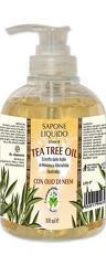 Sapun lichid vegetal hidratant cu ulei din arbore de ceai si ulei de neem  La Dispensa  300 ml