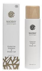 Sampon si gel de dus revitalizant BIO cu extract de musetel Protective  Naobay  250 ml