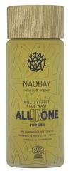 Lotiune de curatare faciala BIO hidratanta cu extract de cafea pentru barbati  All In One  Naobay  100 ml