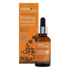 Ulei  facial cu extract de lemn de santal organic - ten sensibil  Soothing - Urban Veda  30 ml