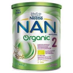 Lapte praf Nestle NAN 2 Organic, 400g, 6-12 luni