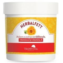 Herbalfett, balsam cu extract de gălbenele, vitamina A și E, 250 ml