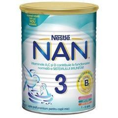 Lapte praf Nestle NAN 3, 400g, 1-2 ani