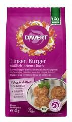 Burger vegan cu linte si curry bio 160g DAVERT