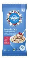 Musli-Cup cocos si merisor bio 55g DAVERT