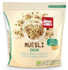 Muesli Incas cu quinoa si amaranth fara gluten bio 350g LIMA