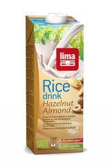 Lapte de orez cu migdale si alune de padure bio 1L