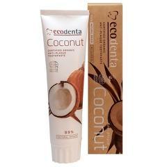 Pasta de dinti antiplaca cu ulei de cocos si sare de zinc, Cosmos Organic, Ecodenta, 100ml