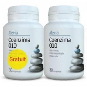 Pachet promo Coenzima Q10, 30 comprimate, Alevia (1+1 GRATIS)